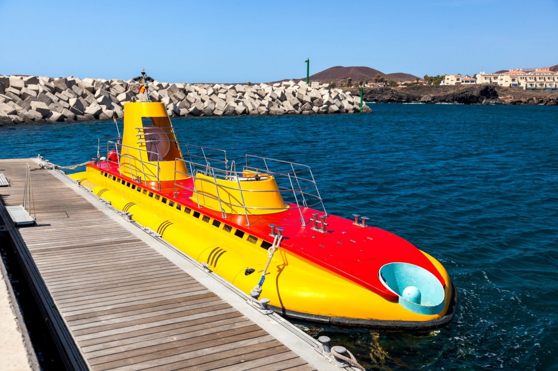 Touristic submarine at Tenerife island - Canary Spain
