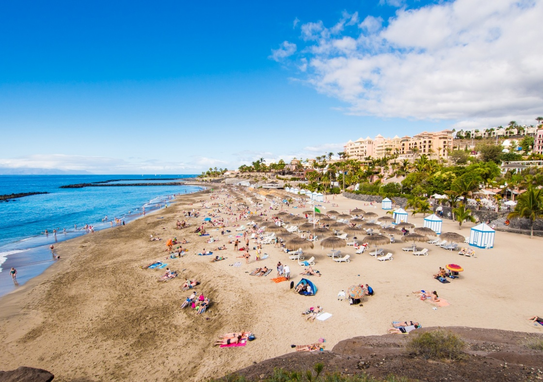 Picturesque El Duque beach in Costa Adeje. Tenerife. Canary islands, Spain