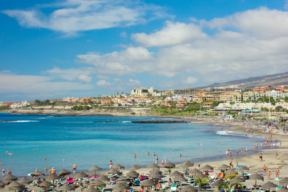 'popular canarian resort Playa de Las Americas, Tenerife, Spain' - Tenerife